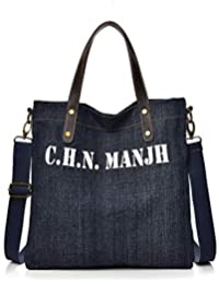 LEWWB Personaje impresión Lona Mochila Schoolbag Hombro Bolso para niño Chica