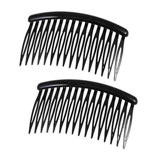 TOOGOO (R) Femmes 16 dents en plastique noir Comb Pin Barrette 3.1 \