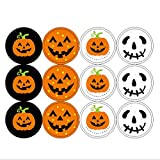 #6: 240Pcs Halloween Pumpkin Stickers Embellishments DIY Craft Kit for Kids Card Making Scrapbooking Decoration Halloween Christmas Birthday Gift for Children