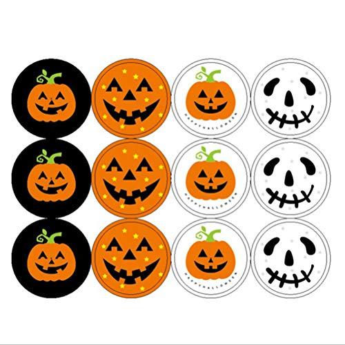 Healifty Halloween Kürbis Sticker Kürbis Deko Bastelsets Selbstklebende Party Deko Sticker für Kinder 40 Blatt