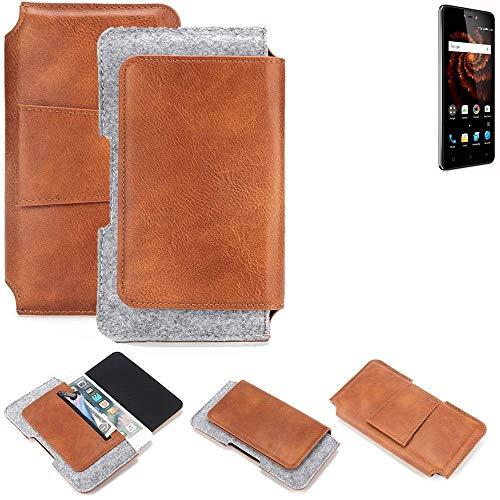 K-S-Trade Gürteltasche für Allview X3 Soul Lite Gürtel Tasche Schutz Hülle Hüfttasche Belt Case Schutzhülle Handy Hülle Smartphone Sleeve aus Filz + Kunstleder (1 St.)