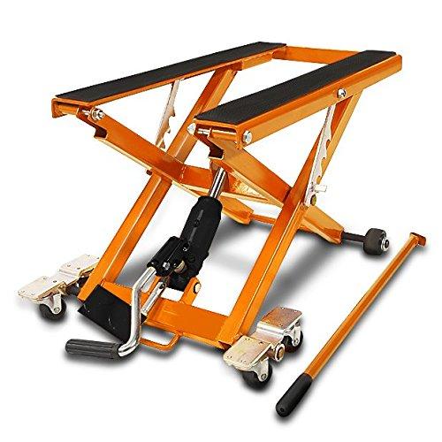 Motorrad Hebebühne XL für Moto Guzzi Eldorado orange Scherenheber