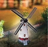 Garden Mile, große Solar-Power Windmühle mit echt drehbaren Flügeln und LED-Lichtern, Solar, Garten-Beleuchtung, Outdoor, Haus, Garten-Schmuck
