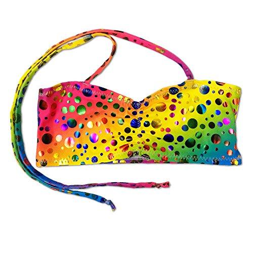 Kostüme Rihanna (UraMermaid Meerjungfrau Kostüm Bikini Bh Top - rihannas Rainbow Blasen,)