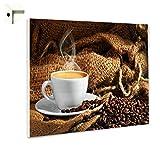 Magnettafel Pinnwand mit Motiv Küche Essen & Trinken Kaffee & B Größe 80 x 60 cm