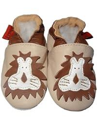 Suaves Zapatos De Cuero Del Bebé León 6-12 meses