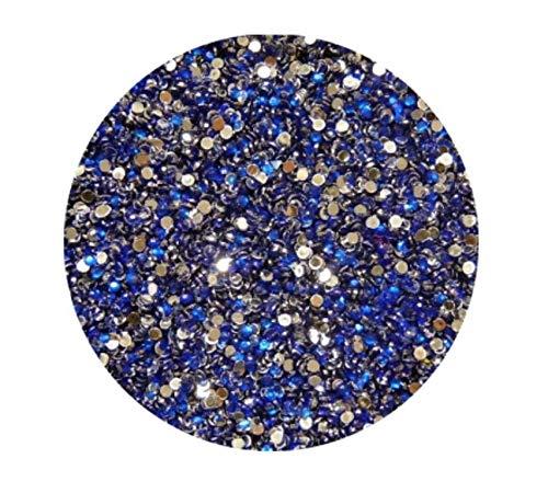 Strass Rond, Bleu Foncé, 2 mm, env. 100 pièces