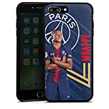 DeinDesign Coque en Silicone Compatible avec Apple iPhone 7 Plus Étui Silicone Coque Souple Paris Saint-Germain Produit sous Licence Officielle PSG Mbappé
