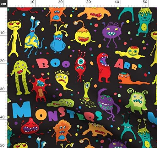 Monster, Halloween, Ausländer, Tier, Bizarr, Bestie Stoffe - Individuell Bedruckt von Spoonflower - Design von Lidiebug Gedruckt auf Synthetik Jersey