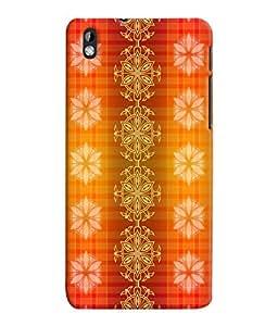 Fuson 3D Printed Colour Pattern Wallpaper Designer Back Case Cover for HTC Desire 816 - D868