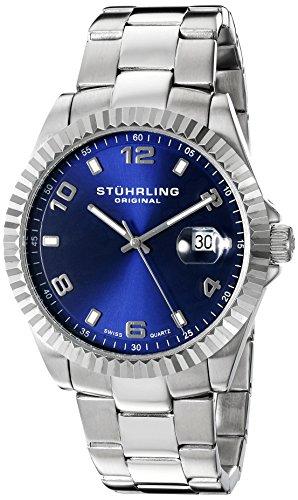 Stuhrling 499.33116 - Orologio da polso da uomo, cinturino in acciaio inox colore argento