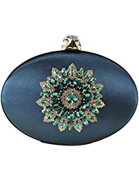 Qzunique Women'S Vintage Elegant Rhinestone Purse Luxury Evening Clutch Bag Handbag