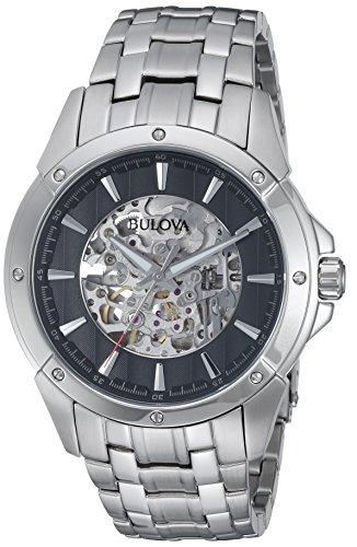 Bulova Homme 43mm Bracelet Acier Inoxydable Automatique Montre 96A170