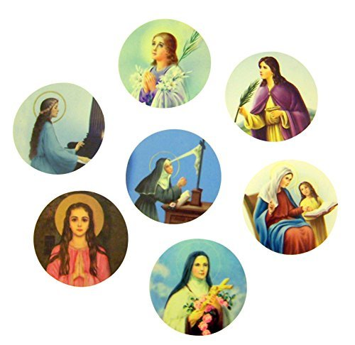 assorted-catholic-female-patron-saint-adhesive-stickers-roll-of-100-by-christian-brands-catholic