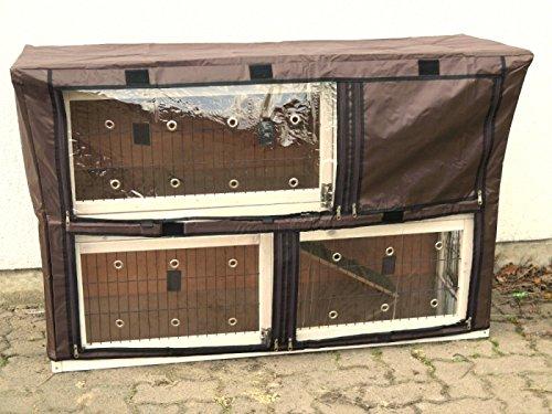 nanook Schutzhülle Hasenstall Kaninchenstall für Serie Moritz XXL Deluxe, wetterfest, 160 x 60 x 110 cm