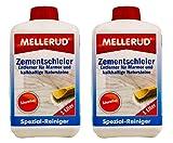 2x MELLERUD Zementschleier Entferner für Marmor u. Natursteine 1 L Set