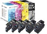 5 HOCHLEISTUNGS TONER nach ( ISO-Norm 19798 ) kompatibel zu Dell E525w 2.400 Seiten Schwarz , 1.650 Seiten Cyan Gelb Magenta