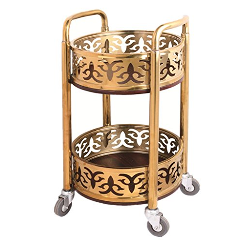 MC Regal Rack Trolley - Mobile Teewagen Hotel Weinwagen Bank Trolley Beauty Tool Warenkorb Runde Weinwagen Snack Car Kinderwagenständer (Color : B, Size : 40 * 40 * 80cm) - Mobile Regale Warenkorb