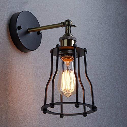 Antik Wandleuchte Anlage Industrie Edison-Design klassisch Nostalgie für E27 Lampe Licht Glühbirne (Anlage-wandleuchte)