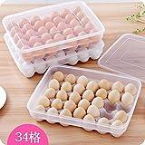 Home und verschiedene große Kapazität Küche Kühlschrank, Eier und frisches - Aufbewahrungsbox 34 vertiefen Eierkartons Ei, Ei versiegelten Box