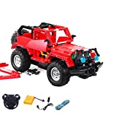 2.4GHz RC plug-in kit DIY remote-controlled 2in1 SUV Truck from building blocks DIY Build with 2.4GHz remote control, block building vehicle, car, car, complete set Incl. Battery and charger