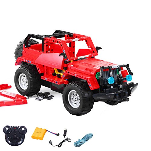 2.4GHz RC plug-in kit DIY remote-controlled 2in1 SUV Truck from building blocks DIY Build with 2.4GHz remote control, block building vehicle, car, car, complete set Incl. Battery and charger - Car Kit Remote-control