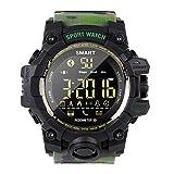 LGPNB Smart Watch Outdoor Sports Kostenlos Aufladen IP67 50M Wasserdicht Telefon Informationstipps Multifunktions Fashion Student Elektronische Uhr-ArmyGreen