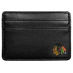 NHL Chicago Blackhawks Leather Weekend Wallet, Black