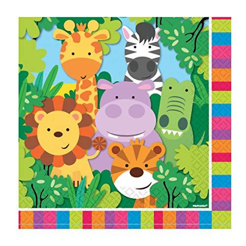 PARTY DISCOUNT® Servietten Dschungel Party, 33 x 33 cm, 20 St.