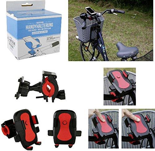 praktische Handyhalterung für Fahrrad, dreh- u. verstellbar inkl. Befestigungssatz