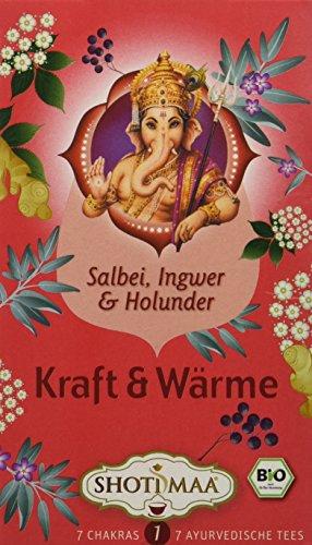 Shoti Maa Bio Kraft & Wärme - Salbei, Ingwer & Holunderblüte (1 x 16 Btl)
