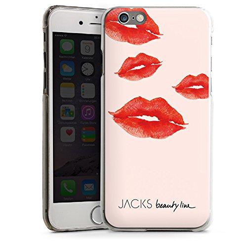 Apple iPhone 5s Housse Étui Protection Coque Bisou Bouche Rouge CasDur transparent