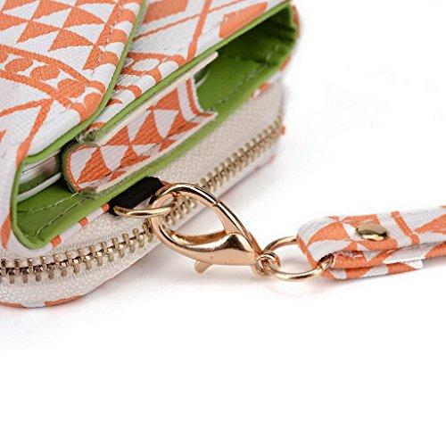 Kroo Pochette/étui style tribal urbain pour HTC Desire 626/One (M8Eye) Multicolore - Rose Multicolore - White and Orange