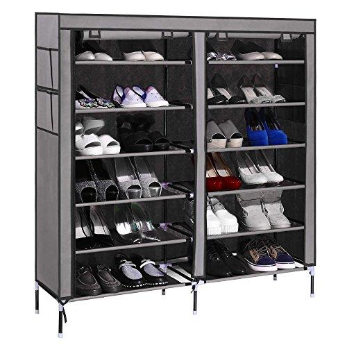 Acecoree Schuhschrank Schuhregal Stoff 6 Ebenen Für Ca. 40 Paar Schuhe 110  X 118 X