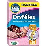 Huggies DryNites Nachthöschen, für Mädchen, 3-5Jahre (16-23kg), 2x16Stück