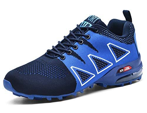 GNEDIAE Herren KR-5 Low-top Traillaufschuhe,Straßenlaufschuhe Blau 39 EU
