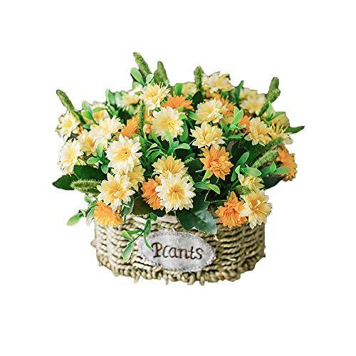 Jwshang seta artificiale cesto di fiori composizioni floreali di fiori finti regalo centrotavola per matrimoni casa cucina giardino soggiorno hotel ufficio party decorazioni floreali, nero