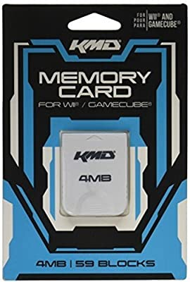 KMD 4MB 59 Blocks Memory Card for Wii and Gamecube from KMD