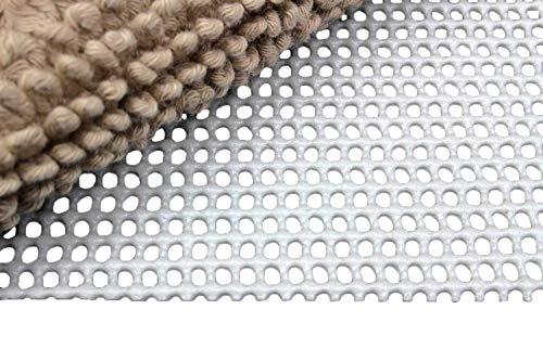 Moon Anti-Rutsch Matte Teppichunterlage Professional grau zuschneidbar, Rutschfest und 60° waschbar (60x120)