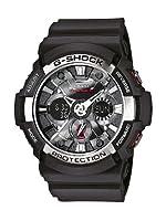 Reloj Casio GA-200-1AER y digital de cuarzo para hombre con correa de resina, color negro de Casio