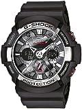 G-Shock Men's GA-200-1AER Quartz Watch with Black Dial Analogue Digital Display and Black Resin Bracelet