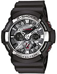 Casio Herren Armbanduhr Analog - Digital Quarz Schwarz Resin Ga-200-1Aer