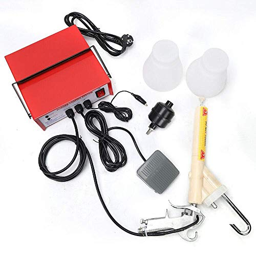 Verniciatura a polvere istolet, Istolet Verniciatura a polvere elettrostatica Sistema di rivestimento Attrezzatura per verniciatura Pistola per verniciatura elettrica 3.3W (Giallo)