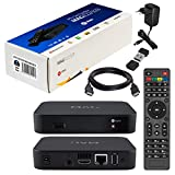 MAG 322 Original Infomir / HB-DIGITAL IPTV Set TOP Box Multimedia Player Internet TV IP Receiver (HEVC H.256 Support) MAG 254 Nachfolger + HB-Digital Nano WLAN WiFi USB Stick + HDMI Kabel