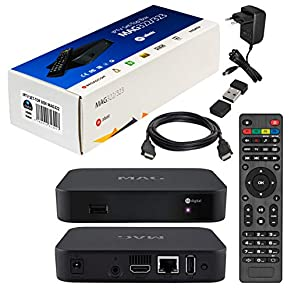 MAG Original Infomir / HB-DIGITAL IPTV Set TOP Box Streamer Multimedia Player Internet TV IP Receiver + HB Digital HDMI Kabel