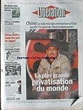 LIBERATION [No 5075] du 13/09/1997 - CHINE - LA REFORME DES ENTREPRISES D' ETAT, LA PLUS GRANDE PRIVATISATION DU MONDE ELECTIONS SOUS HAUTE TENSION EN BOSNIE ROISSY VA DOUBLER SES PISTES SECU - AUBRY DANS LES PAS DE JUPPE CARL LEWIS
