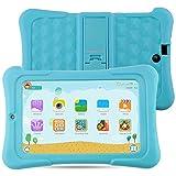 Alldaymall Kinder Tablet PC - 7 zoll IPS( 16GB ROM+1GB RAM, HD 1920x1200, Wi-Fi, Android 5.1, Quad Core, Bluetooth, OTG ) - (with Silikon Adjustable Stand Case) 2017 New Model - Blau