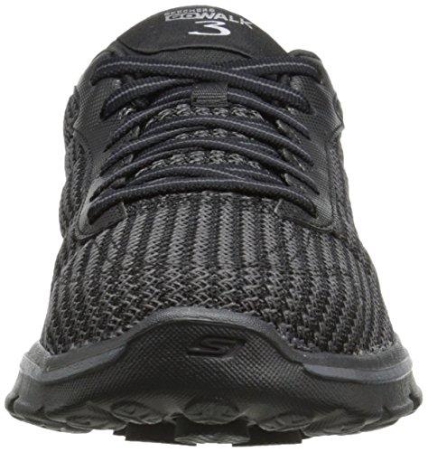 Skechers - Chaussure Go Walk 3 Fitknit, Sneaker Basse Donna Nero (bbk)