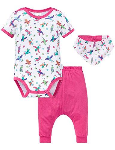 Schiesser Baby Set Mädchen Body, Mehrfarbig (Sortiert 901), 92 (3erPack) -
