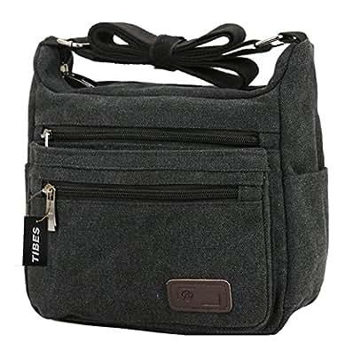 Tibes Canvas Cross Body Bag Casual Shoulder Bag school ...
